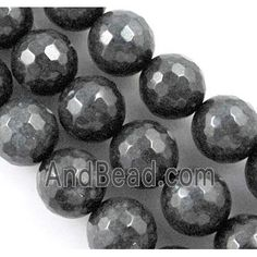Quartzite stone bead, stability, faceted round, black dia, approx per st Jade Beads, Stone Beads, Stability, Saints, Black, Black People