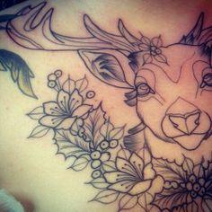 Deer tattoo design.