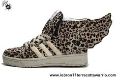Star's favorite Adidas X Jeremy Scott Wings 2.0 Leopard Shoes Your Best Choice