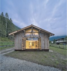 Completed in 2016 in Neustift im Stubaital, Austria. Images by Wolfgang Retter. . A 150 year-old barn that was no longer in use (and was about to be demolished) was torn down at its original site and rebuilt on the building site...