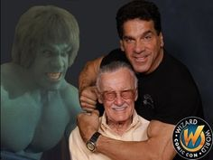 The HULK, Lou Ferrigno receives Lifetime Achievement Award from Stan Lee. EXCELSIOR!!!
