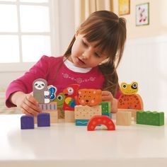 Eco Amazon Wooden Building Blocks - wooden toys - toys - Product