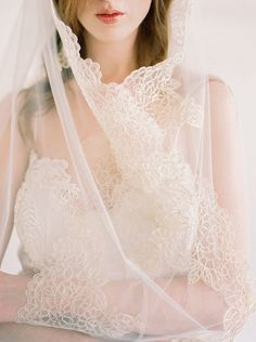 Kate Gold Lace VeilLace Veil Gold Lace Wedding by MarisolAparicio