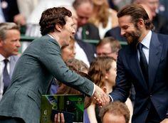 Ben and Bradley Cooper at Wimbledon