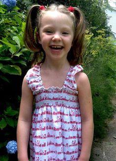 Little girl's shirred sundress tutorial ... spoonflower blog by *kim*