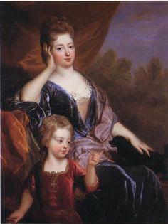 Madame de Brionne and her son Louis de Lorraine, 1697 François de Troy