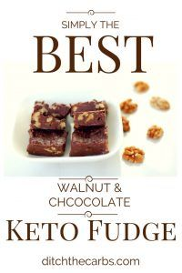 You have got to try this amazing walnut keto fudge recipe. It is so easy and takes only 5 minutes to make. Low carb, LCHF, Banting, gluten free and no added sugars. | ditchthecarbs.com