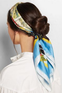 A headscarf matches most hair styles.  Make sure the color is bright