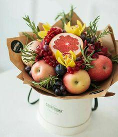 Food Bouquet, Gift Bouquet, Fruit Box, Fruit And Veg, Fruit Gifts, Food Gifts, Vegetable Bouquet, Edible Bouquets, Fruit Flowers