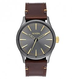 NEW Gunmetal/Gold Sentry 38 Leather Watch by Nixon | $175 | Doing more with less. The inspiration for The Sentry 38 Leather, comes from the movement towards making an impact with understated size. Scaled down, this watch displays bold dials and a distinctive look with subtle proportions. | GOTSTYLE.CA
