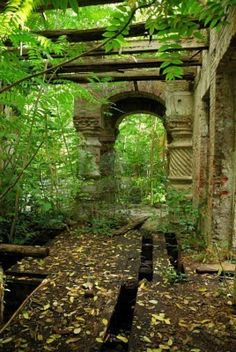 Picture of Ruins of architectural building, built in 1896 stock photo, images and stock photography. Abandoned Castles, Abandoned Places, Beautiful Ruins, Beautiful Places, Oh The Places You'll Go, Places To Visit, Green Design, Forgotten Treasures, Environmental Art