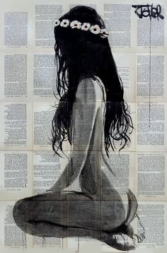 "Saatchi Art Artist LOUI JOVER; Drawing, ""daisy chain"" #art"