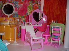Barbie Salon Plastic Shelving Units, Barbie Store, Home Decor, Shopping, Living Room, Decoration Home, Plastic Shelves, Room Decor, Home Interior Design
