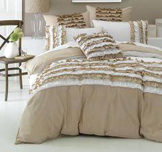Deco Osmond Quilt Cover Set Range Linen and White Linen Bedding, Bed Linen, Quilt Cover Sets, Comforters, Quilts, Blanket, Range, Furniture, Home Decor