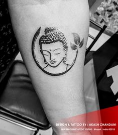 Beautifully designed this Buddha Tattoo yesterday  Tattoo by : Akash Chandani Skin Machine Tattoo Studio @skinmachinetattoo  Email for appointments : skinmachineteam@gmail.com www.skinmachinetattooz.com