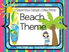 This is a new collection of elements to set up your ocean or beach themed classroom. This is 80 pages of bright colored fun! This is a PDF file so ...