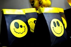 Bringing Smiley Back - Black party bag filled with happy goodies!