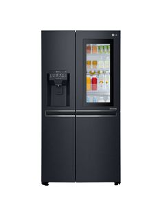 die besten 25 black fridge freezer ideen auf pinterest amerikanischer k hlschrank massivholz. Black Bedroom Furniture Sets. Home Design Ideas