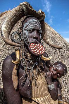 Mursi tribe woman . Ethiopia
