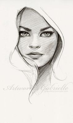 Artwork by Gabrielle, 25 min sketch from ref :) Just wanted to draw on Inspirationde