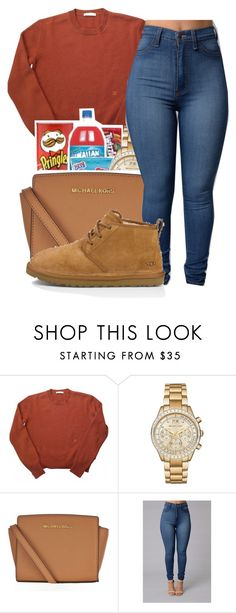 """School"" by maiyaxbabyyy ❤ liked on Polyvore featuring Michael Kors, MICHAEL Michael Kors and UGG Australia"