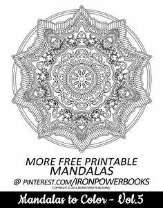 Mandala Intricate Design FREE for personal use | For a paperback copy visit http://www.amazon.com/Mandalas-Color-Mandala-Coloring-Adults/dp/149733716X