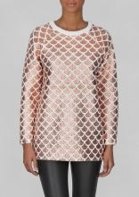 Knitted sweater w/ colour detail