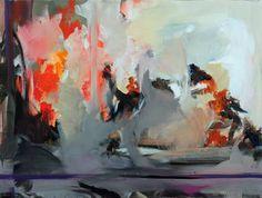 "Saatchi Art Artist Ute Laum; Painting, ""Abstract painting Vereinzelt Nebelfelder (occasional waft of mist)"" #art"