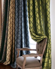 "Each 108""L Curtain - traditional - Curtains - Horchow"