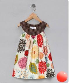 Cloud Mine White Leaf & Flower A-Line Dress - Toddler & Girls Toddler Girl Dresses, Toddler Outfits, Kids Outfits, Toddler Girls, Little Girl Dresses, Girls Dresses, Dresses Dresses, Indian Dresses, Summer Dresses