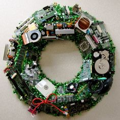 I think I found a new holiday project for my work :) IT Wreath!