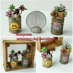 ☀☀☀ ヤフオク出品いたしました。 #ドールハウス のカテゴリーです。 7月8日22時45分頃まで。  御興味ありましたら 宜しくお願い致します。  #ミニチュア#樹脂粘土 #粘土多肉植物#リメイク缶 風 #ドールハウス小物  #てづくり#ハンドメイド #miniature#dollhouseminiature #handmademiniature #clay#claysucculents  暑いっす❗