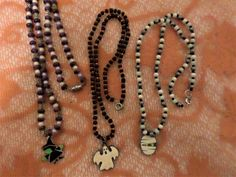 Items similar to Mummy Witch OR Ghost And Beads Necklace on Etsy Witch, Beaded Necklace, Buy And Sell, Beads, Halloween, Trending Outfits, Unique Jewelry, Handmade Gifts, Artist