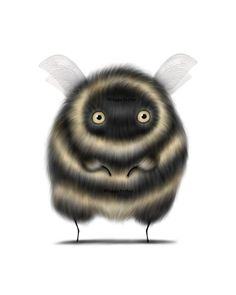 Bee Illustration, Illustrations, Bee Drawing, Black Cat Art, Queen Art, Cat Art Print, Bee Gifts, Cute Bee, Pop Art
