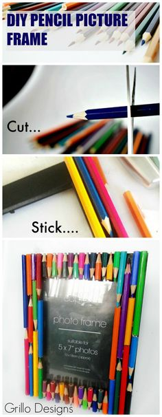 DIY PENCIL PICTURE FRAME | Grillo Designs