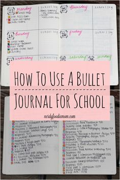 How To Use A Bullet Journal For School - bullet journaling can make you so much…