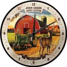 Ceas perete John Deere Farming Traditions Nostalgic Art, Traditional, Retro, Farming, Wall, Clock Faces, Clocks, Om, Products