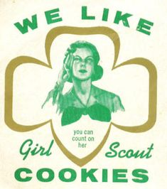 1958 Girl Scout Cookie Poster