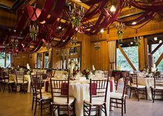 Sundance Resort red and gold wedding reception - Alixann Loosle Photography