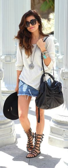 summer chic with gladiator sandals