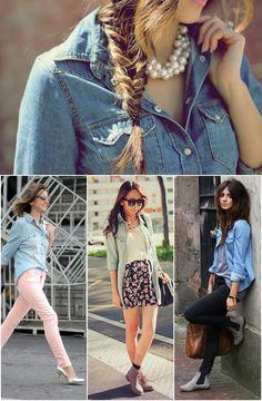 Camisa jeans, uma peça que não pode faltar no seu armário!