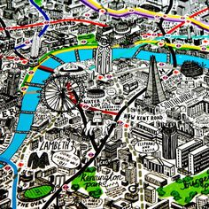 London by Hand - Illustrator Jenni Sparks' impressively detailed map of London