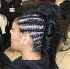 Hair with attitude!  Student work done at our North Austin campus.  For more pictures check out www.Facebook.com/BellaBeautyCollegeNorthAustin
