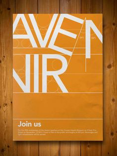 Avenir typeface posters on Behance Typo Poster, Poster Fonts, Typographic Poster, Typography Fonts, Lettering, Posters, Typo Design, Design Poster, Graphic Design