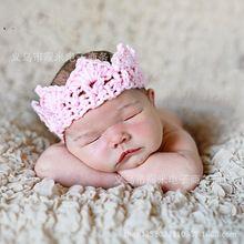 Bebê bebê malha ou crocheted headband do macio crown recém-nascido bonito do bebê fotografia adereços foto acessórios de cabelo(China (Mainland))