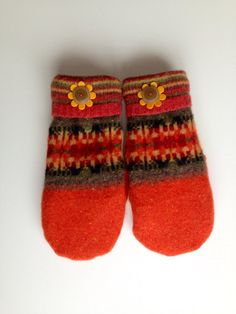Sweater+Mittens+made+from+recycled+wool+sweaters+by+SullysSofties,+$25.00