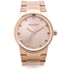 Nixon Cannon Watch ($150) ❤ liked on Polyvore featuring jewelry, watches, rose gold, dial watches, nixon watches, nixon wrist watch, nixon and nixon jewelry