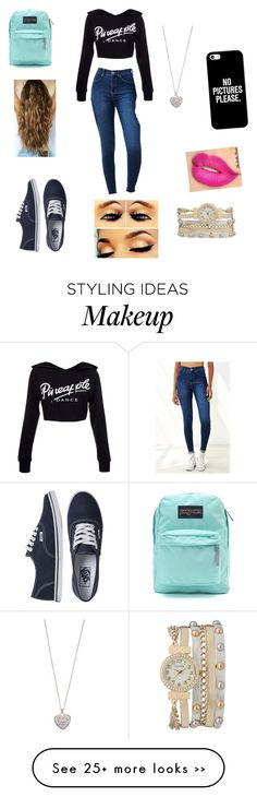 """school outfit"" by lopez-marisol2177 on Polyvore featuring Dr. Denim, Vans, JanSport, maurices, Accessorize and Casetify"