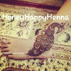 henna peacock by HoneyHappyHenna