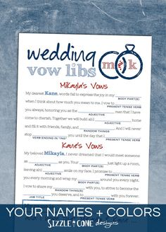 Download and print your own FREE wedding Mad-libs! | DIY wedding ...